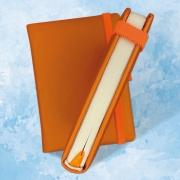 Блокнот А6, обложка твердый переплет с поролоном, крепление ПУР клей