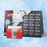 Календарь домик кашированный с подставкой под записные блочки
